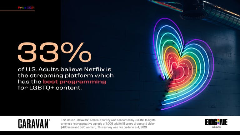 33 percent of U.S. Adults believe Netflix is the streaming platform which has the best programming for LGBTQ+ content.